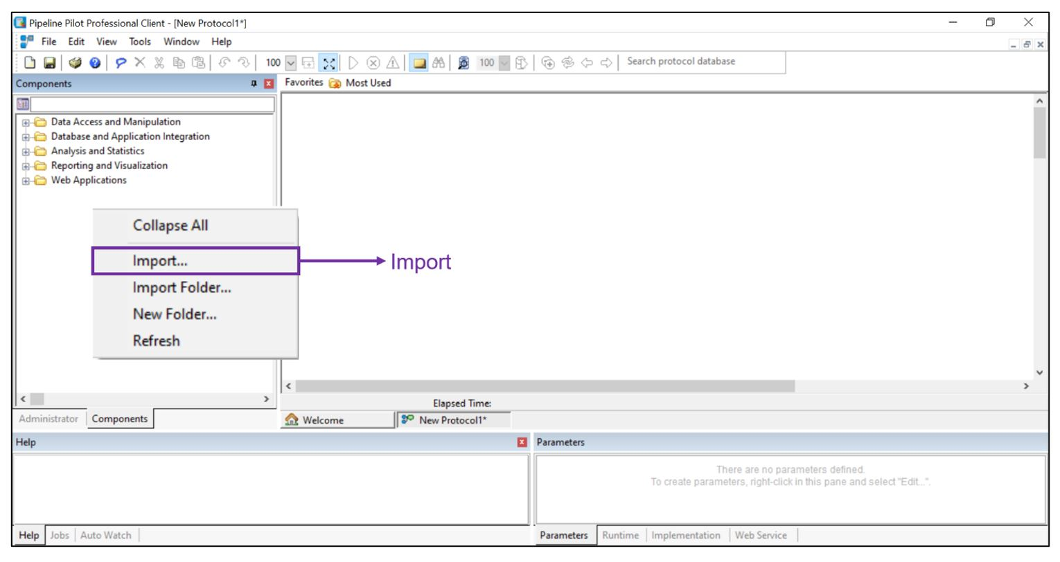 GSI APU components imported into the Pipeline Pilot interface